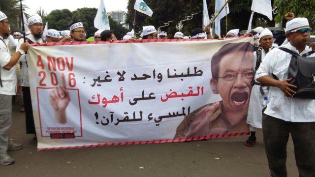 Paerta aksi damai masih fokus pada satu tuntutan, usut tuntas kasus penistaan agama oleh Gubernur Non Aktif Jakarta, Ahok.
